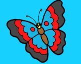Coloring page Butterfly 13 painted byAnia