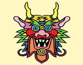 Coloring page Dragon face painted bymicheleof4