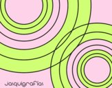 Coloring page Linked circles painted byAnia