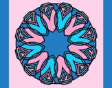 Coloring page Mandala 37 painted byAnia