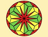Coloring page Mandala 42 painted byAnia