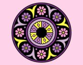Coloring page Mandala flower painted byAnia