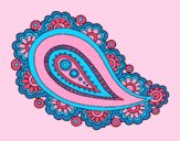 Coloring page Mandala teardrop painted byAnia
