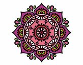 Coloring page Mandala to relax painted bymicheleof4