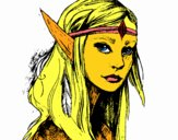 Coloring page Princess elf painted byphilcool