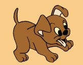 Coloring page Puppy painted byAnia