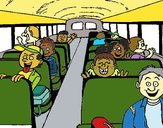 Coloring page School bus painted bymicheleof4