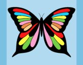 Coloring page Butterfly 19 painted byAnia