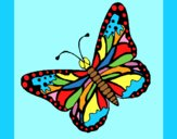 Coloring page Butterfly 4 painted byAnia