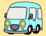 Coloring page Classic van painted byAnia