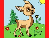 Coloring page Fawn painted byAnia