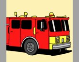 Coloring page Fire engine painted byAnia