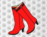 Coloring page High boots painted byAnia