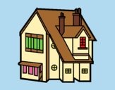 Coloring page Single-family house painted byAnia