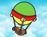 Coloring page Balloon aircraft painted byAnia
