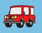 Coloring page Jeep all-terrain painted byAnia
