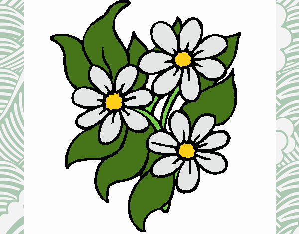 Coloring page Little flowers painted byNerak