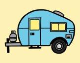 Coloring page Modern caravan painted byAnia