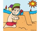 Coloring page Summer painted bymgluc