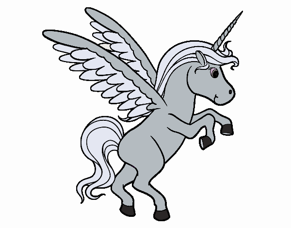 Coloring page Young unicorn painted byNerak