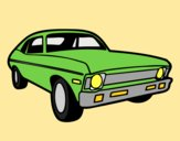 Coloring page American car painted bylorna