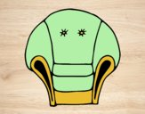 Coloring page Armchair painted bylorna