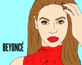 Coloring page Beyoncé I am Sasha Fierce painted bylorna