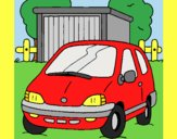 Coloring page Car in the country painted bylorna