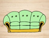 Coloring page Couch painted bylorna