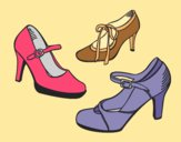 Coloring page Court shoes painted bylorna