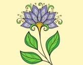 Coloring page Decorative flower painted bylorna