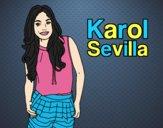 Coloring page Karol Sevilla painted bylorna