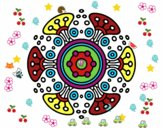 Coloring page Mandala distant world painted byviki