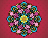 Coloring page Mandala meeting painted bylorna