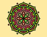 Coloring page Mandala to meditate painted bylorna