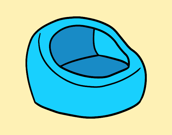 Coloring page Round armchair painted bylorna