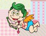 Smiling cupid