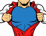 Coloring page Superhero chest painted byphca