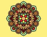 Coloring page Mandala meeting painted bylorna