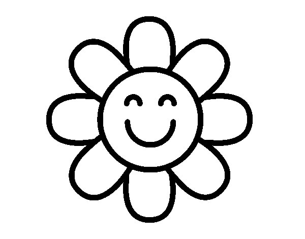 Simple flower coloring page - Coloringcrew.com