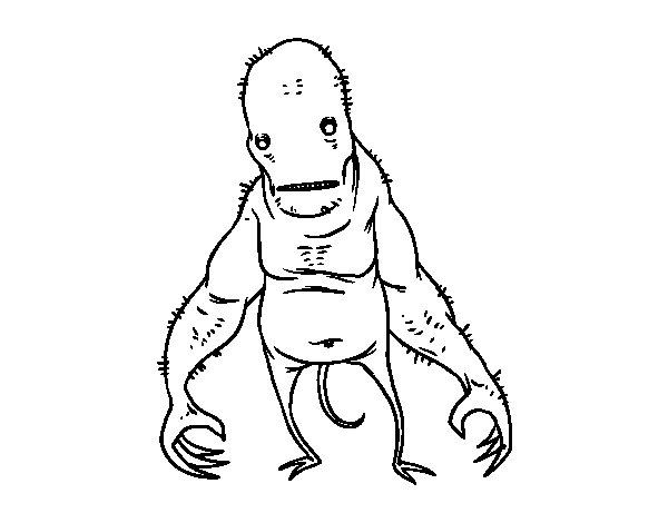 Super ugly monster coloring page - Coloringcrew.com